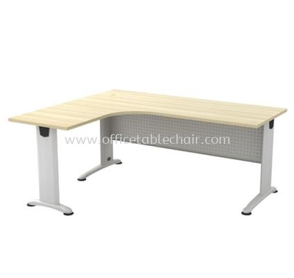 L-SHAPE TABLE C/W METAL MODESTY PANEL BL 1515