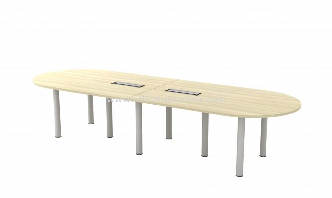 BERLIN OVAL SHAPE CONFERENCE MEETING OFFICE TABLE ABIC 36 (C/W FLIPPER COVER )