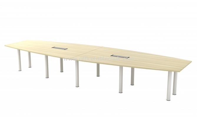BERLIN BOAT SHAPE CONFERENCE MEETING OFFICE TABLE ABBC 30 (C/W FLIPPER COVER )