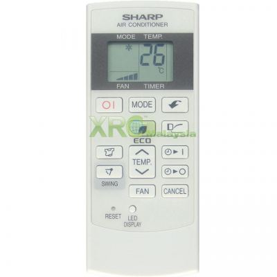 CRMC-A880JBEZ SHARP AIR CONDITIONING REMOTE CONTROL