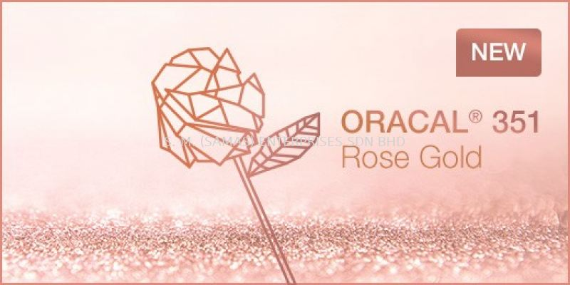 ORACAL® 351 POLYESTER FILM - ROSE GOLD