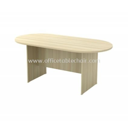 OVAL MEETING TABLE WITH WOODEN BASE EXO 18