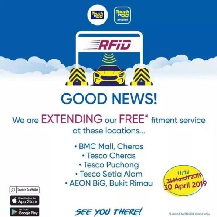 Touch 'N Go RFID tags now available for walk-ins M'sia News