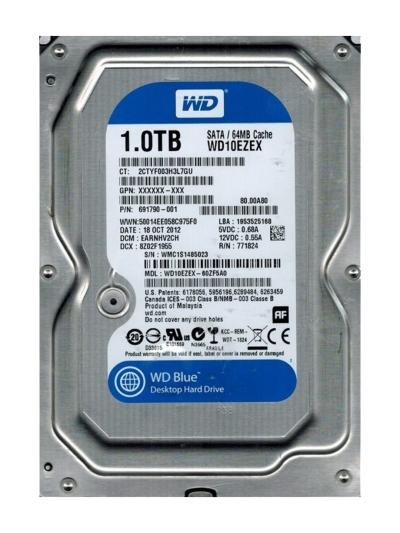 WD Blue 1TB Desktop Hard Disk Drive WD10EZEX