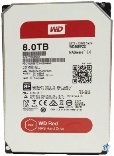 WD Red 8TB NAS Hard Drive WD80EFRX
