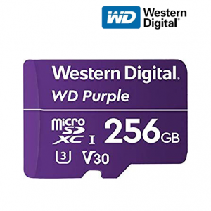 WD Purple 256GB Surveillance Micro SD WDD0256G1P0A