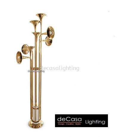 DESIGNER MODERN FLOOR LAMP GOLD