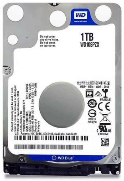WD Blue 1TB PC Mobile Hard Drive WD10SPZX