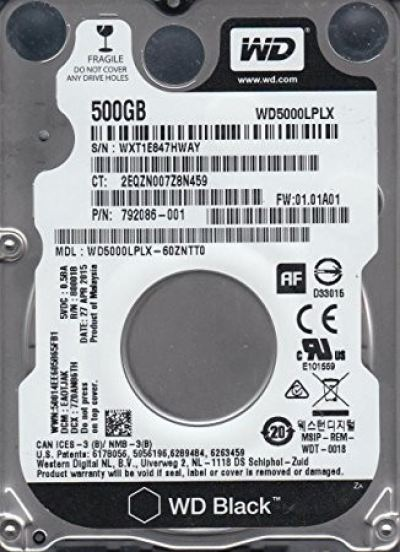 WD Black 500GB Performance PC Mobile Hard Drive WD5000LPLX
