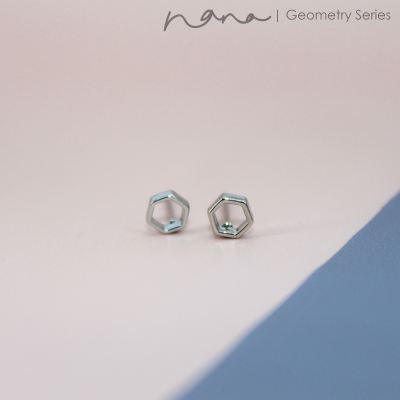 Geometry - E102 Hexagon Abstract (Silver)