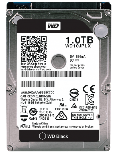WD Black 1TB Performance PC Mobile Hard Drive WD10JPLX