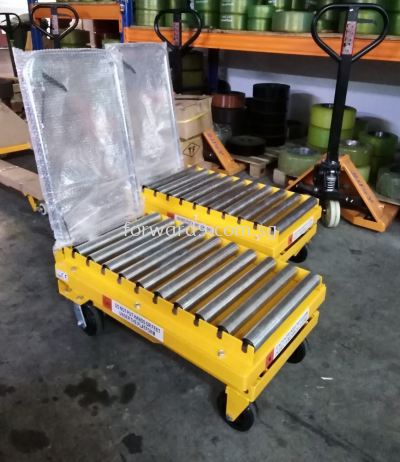 Manual Lift Table with Conveyor Roller