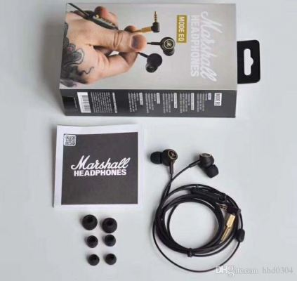 Marshall Mode EQ in-Ear Headphones, Black/Brass