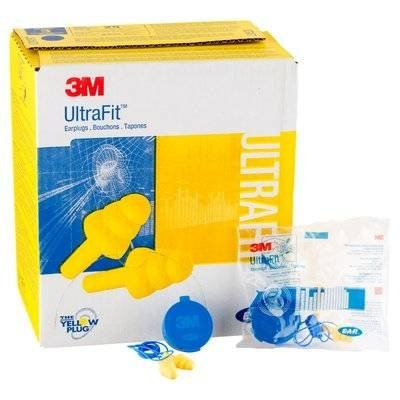 3M 340-4004 E-A-R UltraFit Earplugs, Corded, Poly Bag