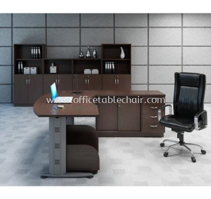QAMAR EXECUTIVE TABLE C/W CABINET SET AQMB 55