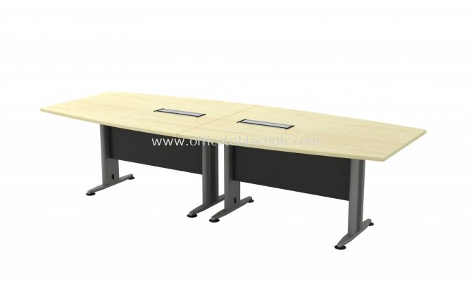 TITUS BOAT SHAPE CONFERENCE MEETING OFFICE TABLE ATBB 30 (C/W FLIPPER COVER )