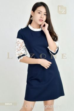 88628 LACE SLEEVE DRESS【BUY 2 FREE 3】