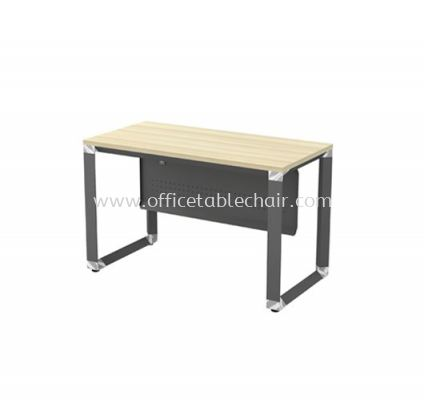 RECTANGULAR WRITING TABLE METAL PYRAMID LEG C/W STEEL MODESTY PANEL (W/O TEL CAP)OMT 126