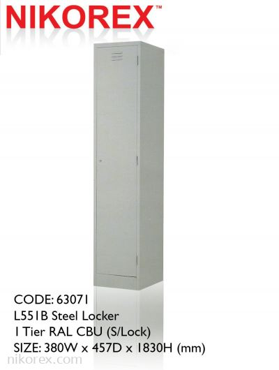 63071 - L551B Steel Locker 1 Tier RAL CBU (S/Lock)