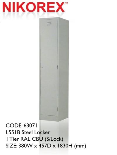 750401 - LOCKER 1 DOOR 6'H (L551B)