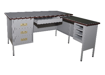 Steel Table 5' L Shape Steel Table Steel Office Furniture Nilai, Malaysia, Negeri Sembilan Supplier, Suppliers, Supply, Supplies | Nilai Meng Trading