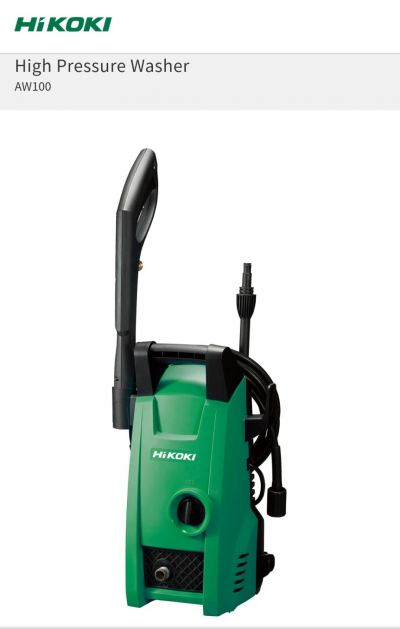 Hitachi / Hikoki High Pressure Cleaner 100Bar AW100