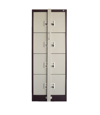 4 Drawer Filing Cabinet c/w Locking Bar S106/ABLB