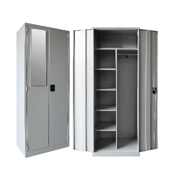 Full Height Wardrobe With Steel Swinging Door SCM-0001