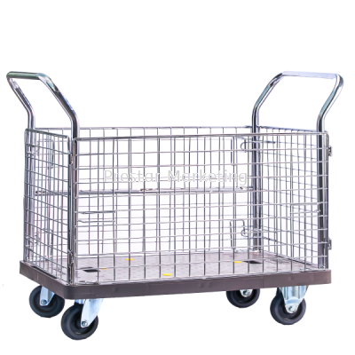 PVC PLATFORM FULL SIDE NETTING TROLLEY