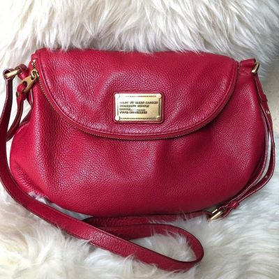 Marc Jacobs Full Leather Classic Q Natasha Crossbody Bag