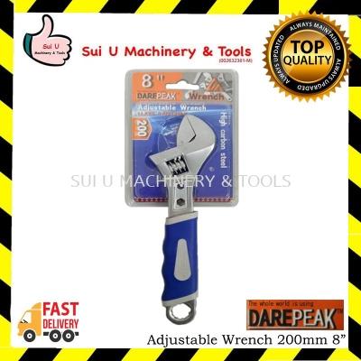 "DAREPEAK Adjustable Wrench 200mm 8"""