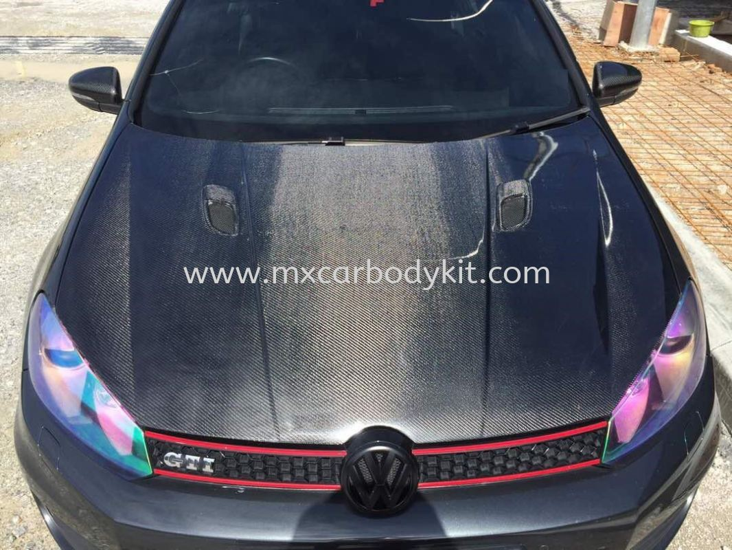 VOLKSWAGEN GOLF MK6 REVO SPORT FRONT BONNET CARBON  GOLF VOLKSWAGEN Johor, Malaysia, Johor Bahru (JB), Masai. Supplier, Suppliers, Supply, Supplies | MX Car Body Kit