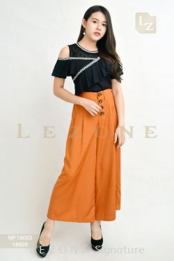18928 BUTTON DETAIL MAXI CULOTTES【ONLINE EXCLUSIVE 35%】