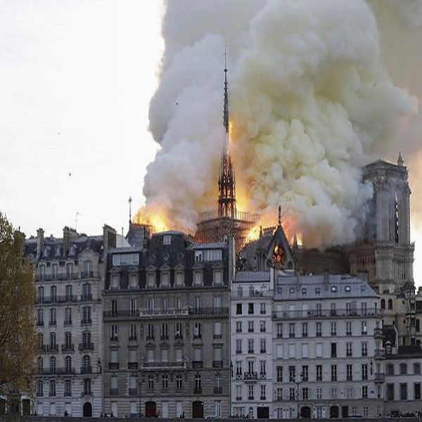Fire engulfed the medieval cathedral of Notre-Dame in Paris  TravelNews