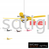 NSB FAN URAGANO YELLOW NSB CEILING FAN / KIPAS SILING