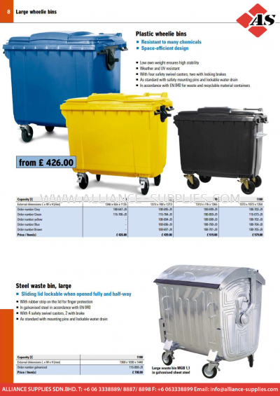 17.08.9 Waste Bins and Waste Collectors