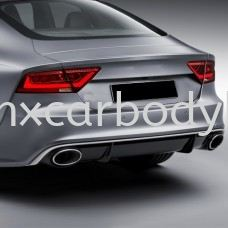 AUDI A7 TYPE 4G RS REAR DIFFUSER WITH EXHAUST TIP  A7 AUDI