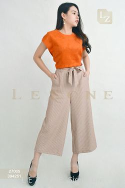 394251 STRIPED CULOTTES【BUY 2 FREE 3】
