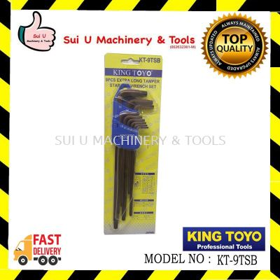 King toyo KT9TSB 9pcs Extra Long Tamper Star Hex Wrench Set
