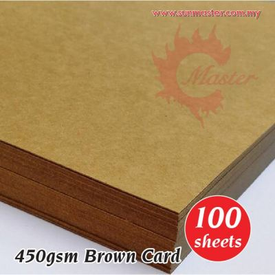 A4 450gsm Brown Card (100s)