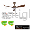 FANCO FAN 1319 KOA Fanco CEILING FAN / KIPAS SILING