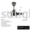 FANCO FAN F126 LED BLACK Fanco CEILING FAN / KIPAS SILING