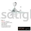 FANCO FAN F126 LED WHITE Fanco CEILING FAN / KIPAS SILING