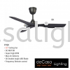 FANCO FAN F159 BLACK Fanco CEILING FAN / KIPAS SILING