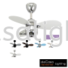 "NSB MIMI 28"" FAN CHROME WHITE NSB CEILING FAN / KIPAS SILING"