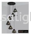 HD-SJ-7811-6-BK HIGH CEILING PENDANT LIGHT