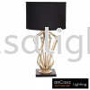DESIGNER TABLE LAMP BLACK WITH GOLD HOLDER Modern Table Lamp TABLE LAMP