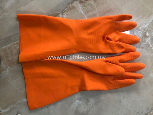 Nitrile Industrial glove flocklined