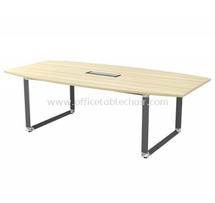 PYRAMID BOAT SHAPE MEETING OFFICE TABLE AOBB24 (C/W FLIPPER COVER)