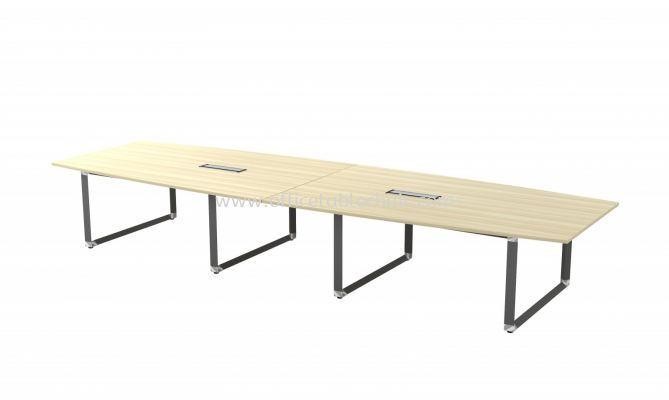 PYRAMID BOAT SHAPE CONFERENCE MEETING OFFICE TABLE AOBB48 (C/W FLIPPER COVER)